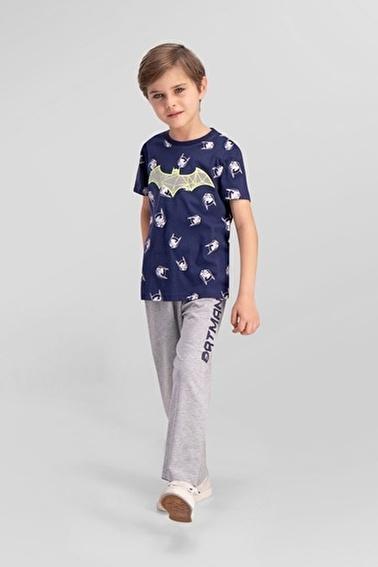 Batman Batman Lisanslı Lacivert Erkek Çocuk Pijama Takımı Lacivert
